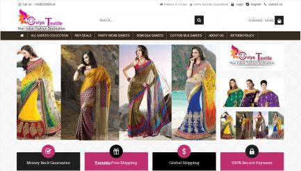 saree shop ecommerce script