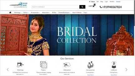 tailor shop ecommerce script